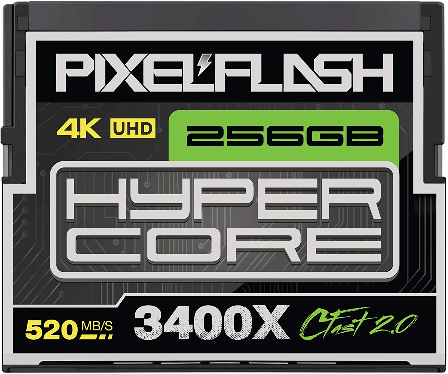 256GB PixelFlash Cfast 2.0 Memory Card 3400X Standard Version for Canon C300, XC10, XC15, Hasselblad, Blackmagic Cinema 4K, Phase One, Leica, and More [2020 Edition][American Brand]