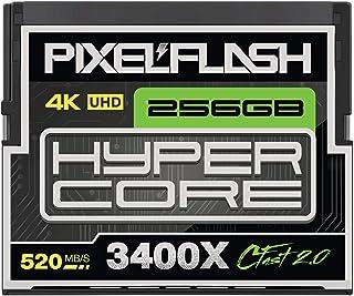 256GB PixelFlash Cfast 2.0 Memory Card 3400X Standard Version for Canon C300, XC10, XC15, Hasselblad, Blackmagic Cinema 4K...