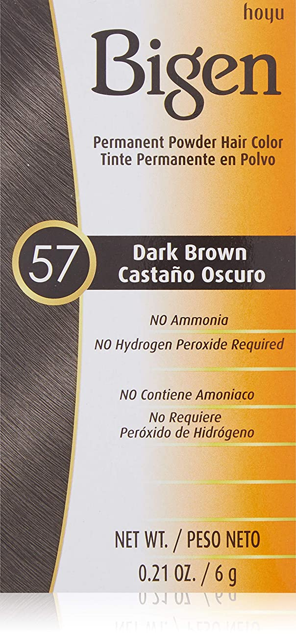 荒らす剣からに変化するBigen パウダーヘアカラー#57ダークブラウン0.21Oz(2パック) 0.21オンス(2パック) ダークブラウン