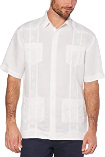 Men's Short Sleeve Embroidered Guayabera Shirt