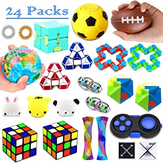 26 Pack Sensory Toys Set, Fidget Toys Pack Stress Relief Hand Toys for Adults Kids ADHD ADD Anxiety Autism - Perfect for Birthday Pinata Fillers, Classroom Treasure Box Prizes and Carnival Games