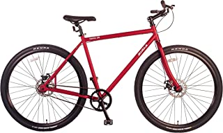 Biria Bicycle Single Speed 29 inch Wheel with Disc Brakes, RED