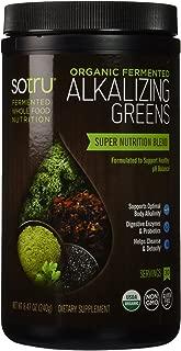 SoTru Alkalizing Greens - 240 grams - Fermented Superfood Blend with Digestive Enzymes, Probiotics & Prebiotic Fiber - USDA Certified Organic, Non-GMO, Vegan, Gluten-Free - 30 Servings