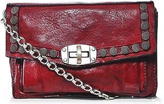 Campomaggi Women's Leather Studded Shoulder Bag Red