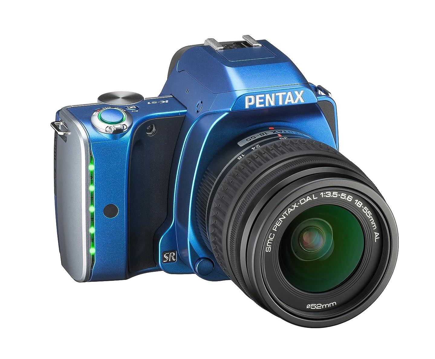 加害者実際に本体RICOH デジタル一眼レフ PENTAX K-S1 レンズキット [DAL18-55mm] ブルー PENTAX K-S1 LENSKIT BLUE 06495