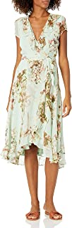 Julian Taylor womens Short Sleeve Floral Ruffled Dress Dress