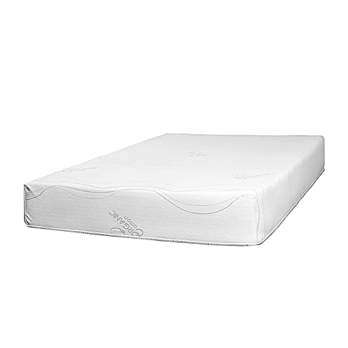 Best 2 Rest 10 inch Natural Latex Foam Mattress Queen with Organic Cotton Cover – 10