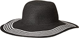 San Diego Hat Company - PBL3088OS Paperbraid Floppy w/ Contrast Stripes on Brim