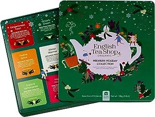 English Tea Shop - Premium Holiday Collection- Green Gift Tin - 72 Tea Bags Sachets, 108g