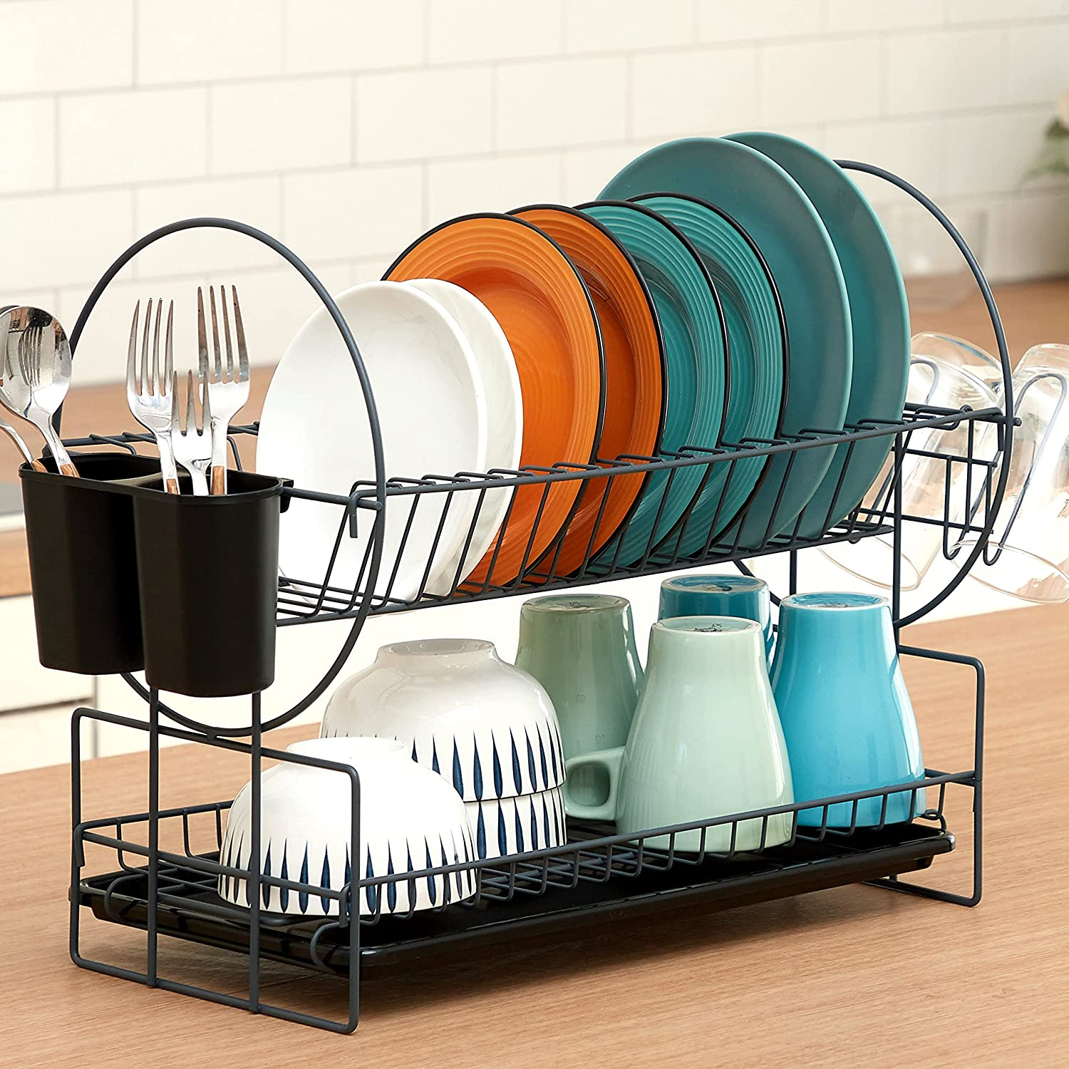 Dish Drying A surprise price is realized Rack 2 Tier Drainboard Cutler Max 47% OFF and Kitchen