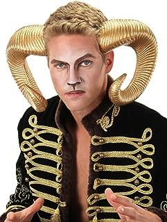 elope Adjustable Gold Ram Horns Costume Headband