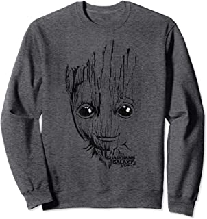 Marvel Guardians Vol. 2 Groot Lines Face Sweatshirt