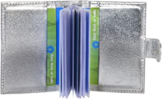 Hide & Sleek Men's Leather Credit Card Holder Bi-fold Design (Silver)