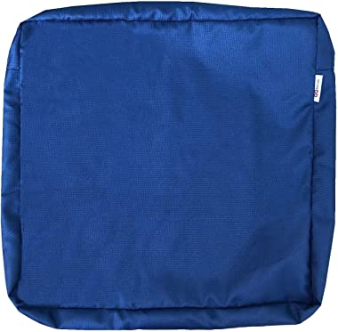 """QQbed Outdoor 6 Pack Patio Chair Washable Cushion Pillow Seat Covers 24""""X22""""X4"""" Size - Replacement Covers Only (24""""X22""""X4"""" 6"""
