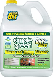 Oxy Solve House and Siding Pressure Washer Cleaner - Removes Stains from Mold & Mildew on Vinyl, Aluminum, Wood, Brick, St...