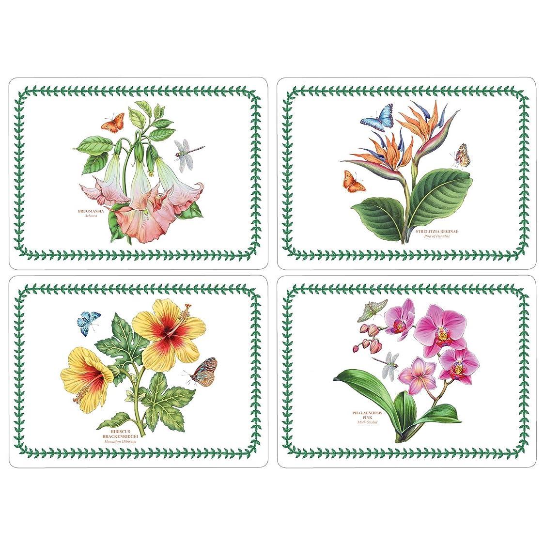 恐怖制限排泄物Pimpernel Exotic Botanic Garden Placemats - Set of 4