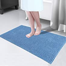 Bathroom Rugs Extra Soft and Absorbent Shaggy Chenille Bath Rugs Non-Slip Shower Mat, Machine-Washable Durable Thick Area ...