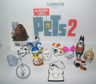 Playful Toys The Secret Life of Pets 2 Movie Deluxe Figure Set of 13 Toy Kit with 10 Figures, Pets Keychain, Sticker, ToyRing Featuring Original and All New Characters Like White Tiger Hu!