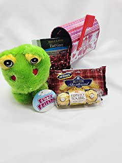 Leap for love valentine's McVities Shortbread Cookie's Valentine Basket Green Frog