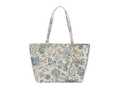 Brahmin Melbourne Medium Asher Bag (Blue Jay) Tote Handbags