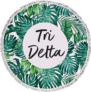 Sorority Shop Tri Delta - Palm Leaf - Fringe Towel - Blanket