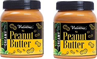 valentino Peanut Butter Combo Natural Creamy (500gm+500gm)Pack of 2(1 kg)