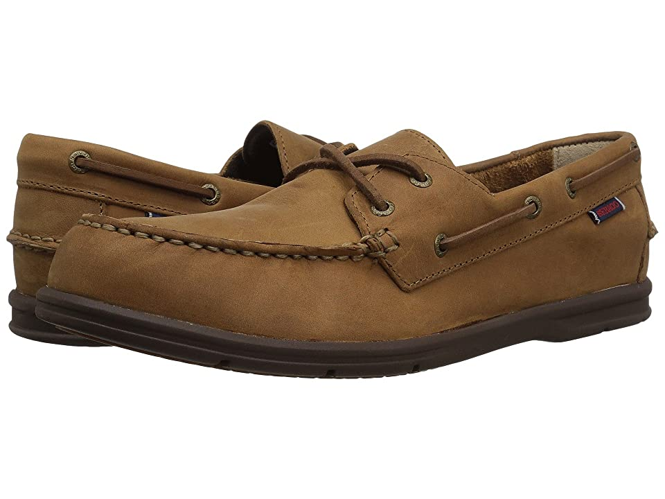 Sebago Litesides Two Eye (Medium Brown Leather/Brown Outsole) Men