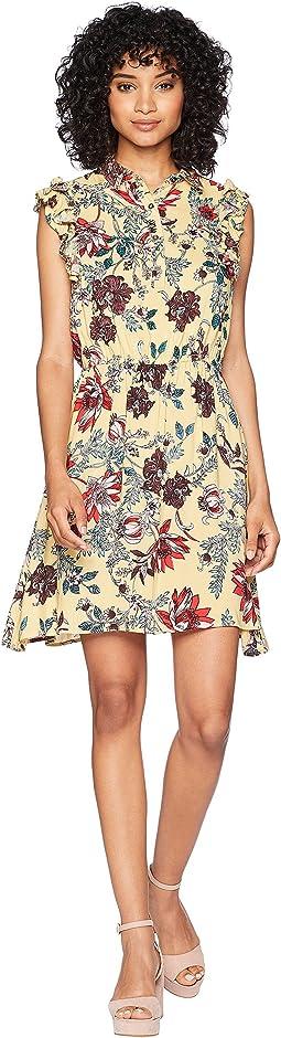 Cinched Waist Button Front Dress