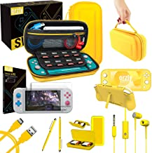 Orzly Switch Lite Accessories Bundle – Case & Screen Protector for Nintendo..
