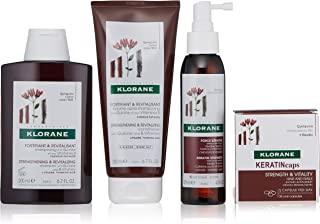 Klorane Hair Strength Routine with Quinine & B Vitamins for Thinning Hair, Support Thicker, Healthier Hair, Men & Women
