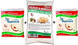 TAPIOCA Hidratada 2 y 1 POLVILHO DOCE 1 (3 pack combinado) GLUTEN FREE