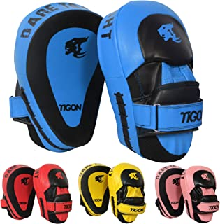 Tigon Curved Focus Pads Target Hook and Jab Thai Kick boxing Punch Mitts MMA