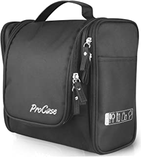 ProCase Large Toiletry Bag with Hanging Hook, Toiletries Kit Organizer for Travel Accessories, Makeup, Shampoo, Cosmetic, Personal Items, Bathroom Storage with Hanging