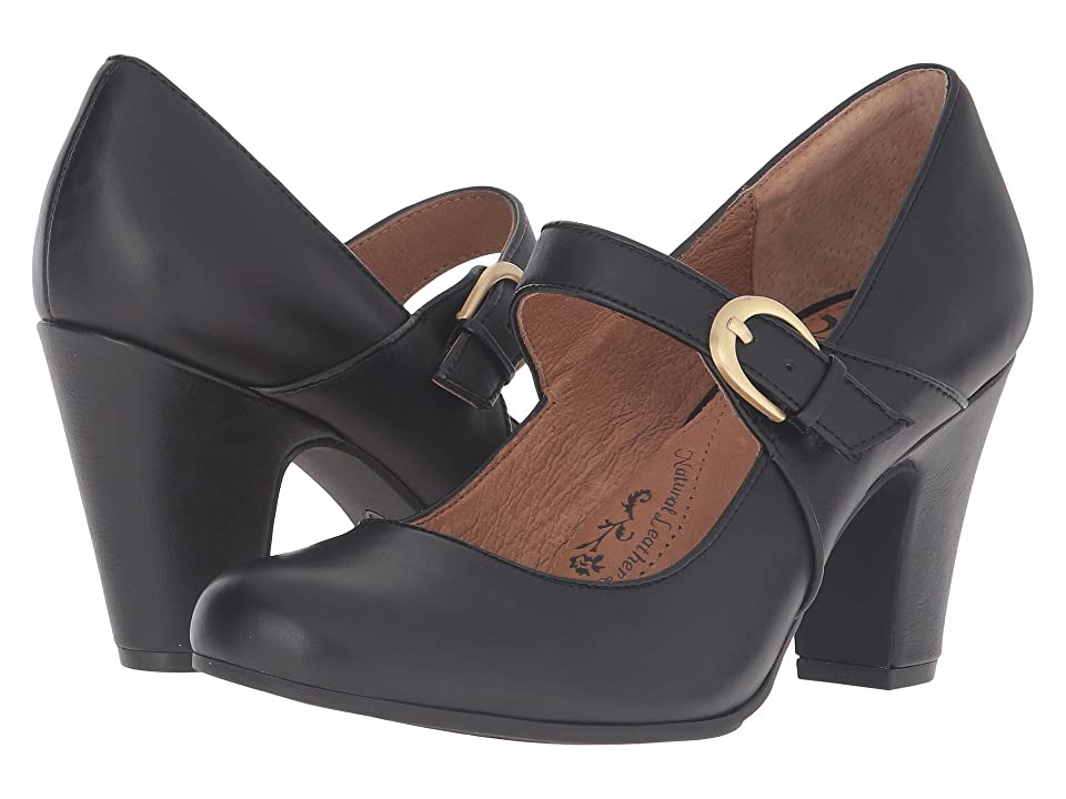 1920s Style Shoes Sofft Miranda Black Cow Quilin High Heels $99.95 AT vintagedancer.com