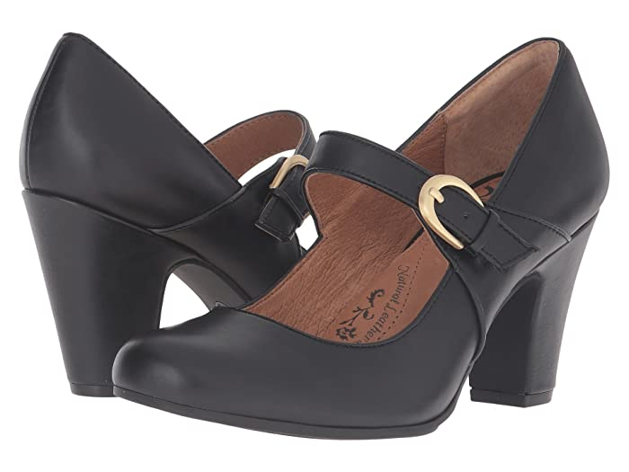 Vintage Style Shoes, Vintage Inspired Shoes Sofft Miranda Black Cow Quilin High Heels $79.95 AT vintagedancer.com