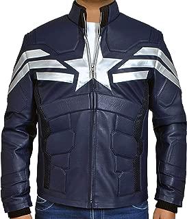 Superstar Winter Soldier Captain CA Steve Rogers Leather Jacket