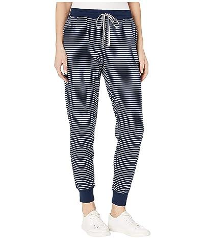 LAUREN Ralph Lauren Cotton Polyester Interlock Separate Jogger Pants (Navy Stripe) Women