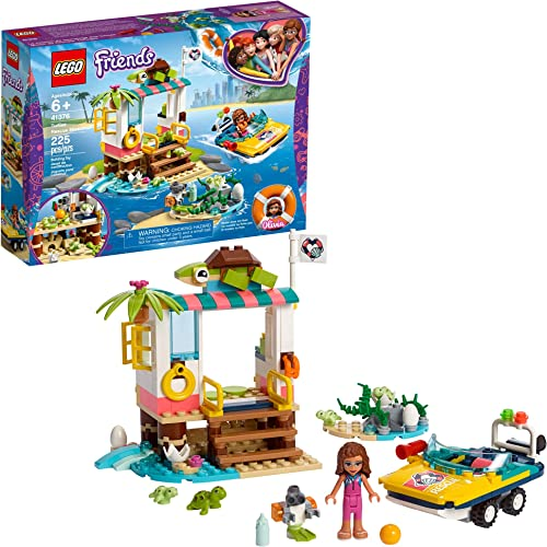 new arrival LEGO Friends Turtles Rescue Mission 41376 Rescue new arrival Building Kit with Olivia Minifigure and Toy Turtles, Includes high quality Toy Rescue Vehicle and Clinic for Pretend Play (225 Pieces) online sale