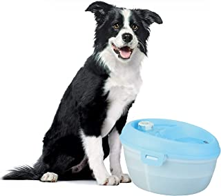 Goofy Tails Dog H2O Water Fountain | Automatic Dog Water Dispenser for Dogs with Dental Care Tablet + Carbon Filter Pad- 4...