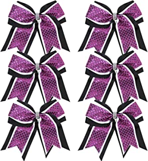 Best purple black and white cheer bows Reviews