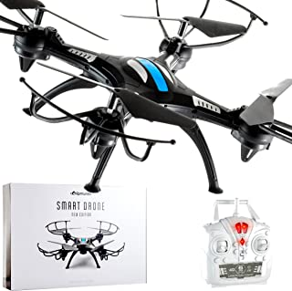CHIPMUNKK Quadcopter Drone Remote Control for 12+ Kids, Adults and Flying Beginners. A Perfect Beginner Mini RC Helicopter. Best Drones Toy Air Quad Copter Under 50 Dollars Go Long Pro Live FPV HD.