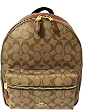 Coach Women's Charlie Signature Leather Backpack