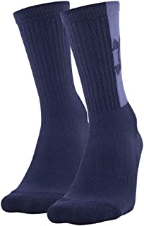 Under Armour Adult Game and Practice Crew Socks, 2-Pairs