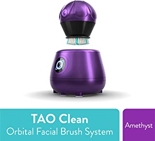TAO Clean Orbital Facial Brush and Cleansing Station – Amethyst (Limited Edition) – Electric Face Cleansing Brush with Patented Docking Technology, Ergonomic Handle, Dual Speed Settings