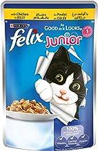 Purina Felix Junior As Good as it Looks Chicken Wet Cat Food Pouch 100g