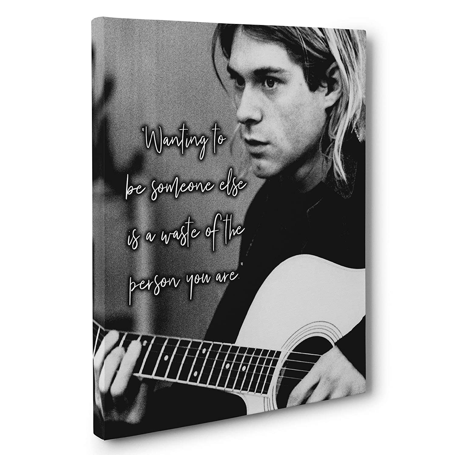 Be Yourself Popular Max 66% OFF Kurt Cobain Art Canvas Quote Wall