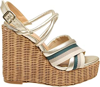 PALOMA BARCELÓ Women's YVESGOLD Gold Leather Wedges
