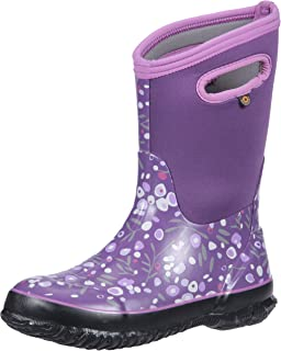 9bae0ac3b6b6 Bogs Kids Classic High Waterproof Insulated Rubber Rain and Winter Snow Boot  for Boys