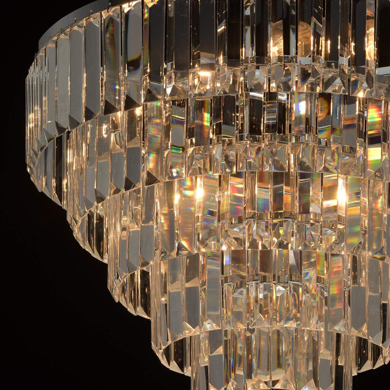 MW-Light 642022601 Wandleuchte Jugendstil Neoklassisch Chrom Metall Kristall Dekor 1 Flammig E14 x 60W