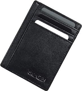SKENZBI® Mens Wallet Card Holder with RFID Blocking | Front Pocket Secure Thin Credit Card Holder Wallet for Men - Space f...